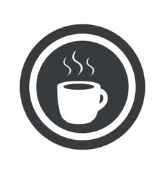 Round black hot drink sign vector