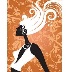 fashion hair vector image