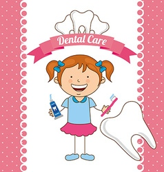 children dental care vector image