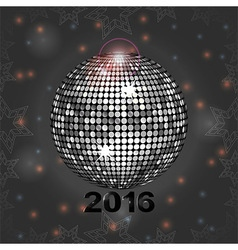 Festive gray glowing background with disco ball vector