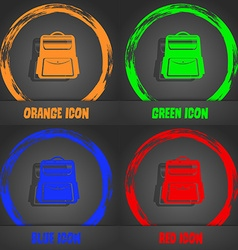 School backpack icon fashionable modern style in vector
