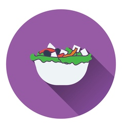 Salad in plate icon vector