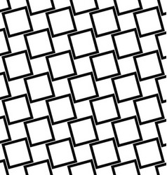 Abstract black and white angular square pattern vector
