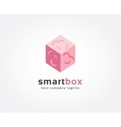 Abstract brain box logo icon concept logotype vector