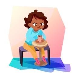 African american girl modeling a jug vector