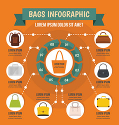 bags infographic concept flat style vector image