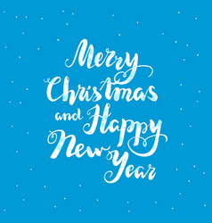 blue new year lettering vector image vector image