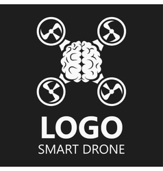 Brain icon logo badge drone vector image vector image