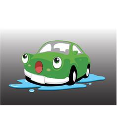 car wash green vector image