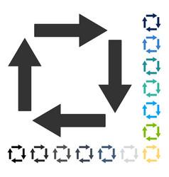 Circulation arrows icon vector