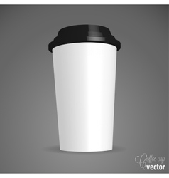Close up take-out coffee vector