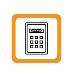 Control panel password keys vector