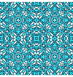 Damask blue pattern vector
