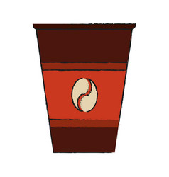 Disposable coffee cup icon image vector