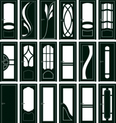 door forms vector image