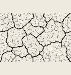 dry cracked mud with layered depth cracks vector image vector image