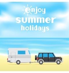 enjoy summer holidays vector image vector image