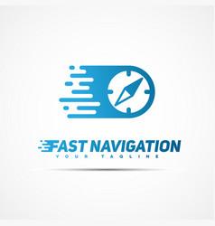 fast navigation logo vector image