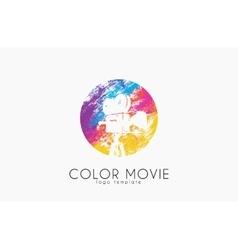 Film camera logo movie camera creative logo vector