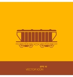 Freight train icon in flat style vector