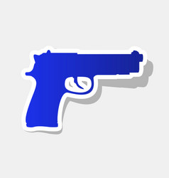 Gun sign new year bluish vector