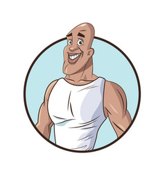 Healthy man muscular fitness vector