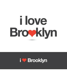 i love brooklyn vector image vector image