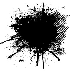 ink splodge vector image vector image