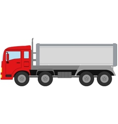 modern isolated truck vector image