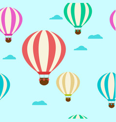 Pattern with balloons balloons vector