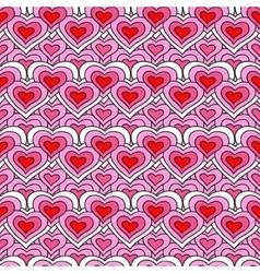 Pink chain of hearts seamless pattern vector image vector image