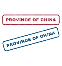 Province of china rubber stamps vector
