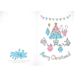 Ready to print christmas card vector
