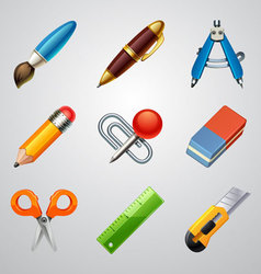 School icons-set 1 vector