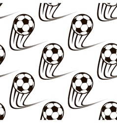 Seamless pattern of zooming soccer balls vector image vector image