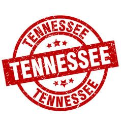 Tennessee red round grunge stamp vector