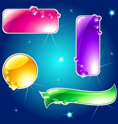 glossy banner vector image