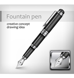 Fountain pen idea vector
