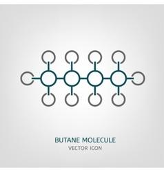 Butane molecule icon vector