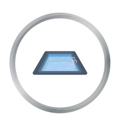 Swimming pool icon in cartoon style isolated on vector
