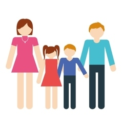 family together members traditional vector image