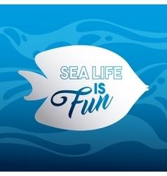 marine and sea life design vector image