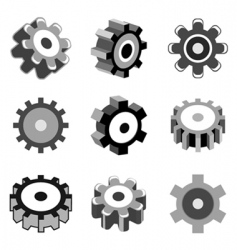 Gear wheel icons vector