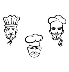 European restaurant chefs vector