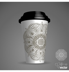 With a cup vector