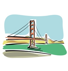 San francisco golden gate vector