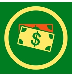 Dollar banknotes icon vector
