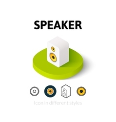 Speaker icon in different style vector