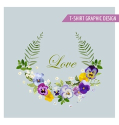 Floral Wreath Graphic Design - for t-shirt vector image