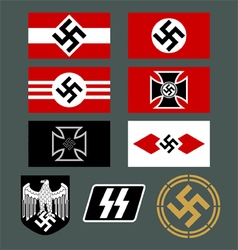 German nazi insignia set vector